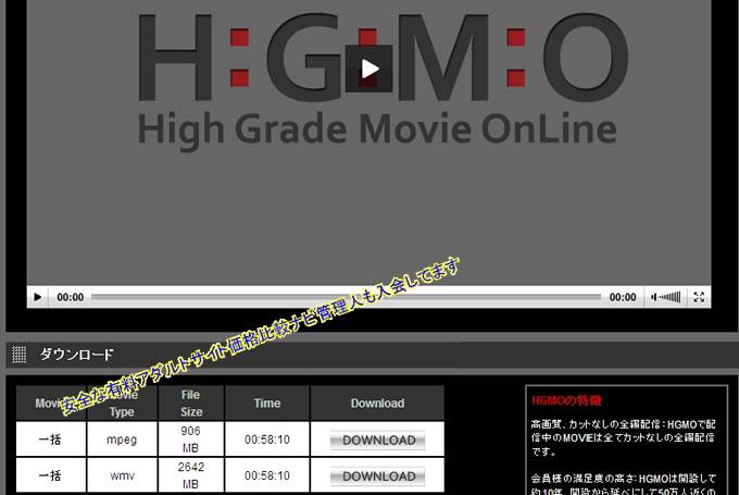 HGMO動画詳細ページ