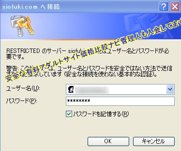 IDやパスワード入力
